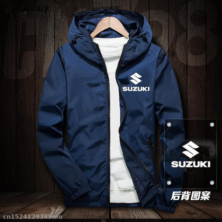 Motorcycle Factory Racing Jacket for suzuki Windproof Jacket Mobike Riding Hooded Suit Windbreaker Racing Suit