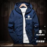 Motorcycle Factory Racing Jacket for Suzuki Windproof Jacket Motorbike Riding Hooded Suit Windbreaker Racing Suit