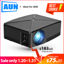 AUN MINI Projector C80UP, 1280x720P, Android 6.0 WIFI Proyector, Portable LED Be