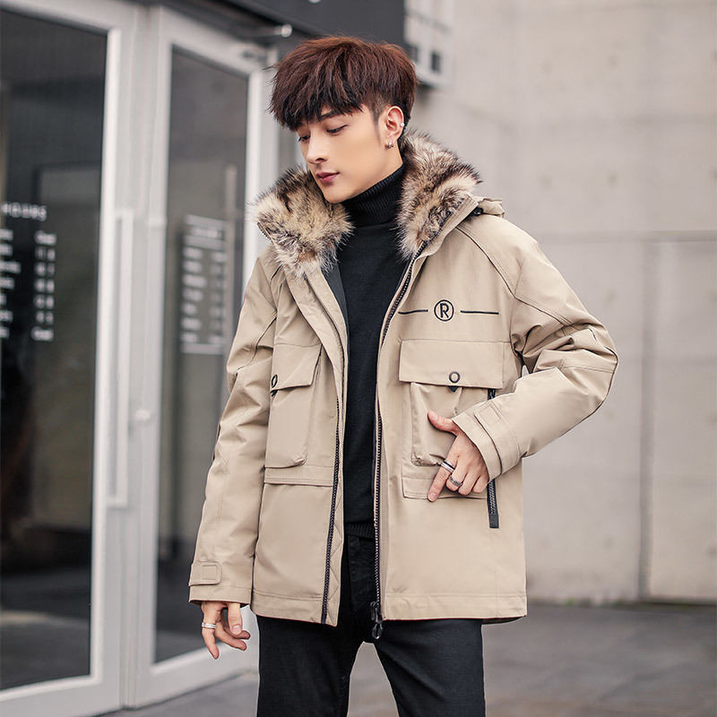 Men Rabbit Coat Mens Clothing Goose Down Korean Warm Winter Jacket Real Fur Parka Casaco P03 YY1025