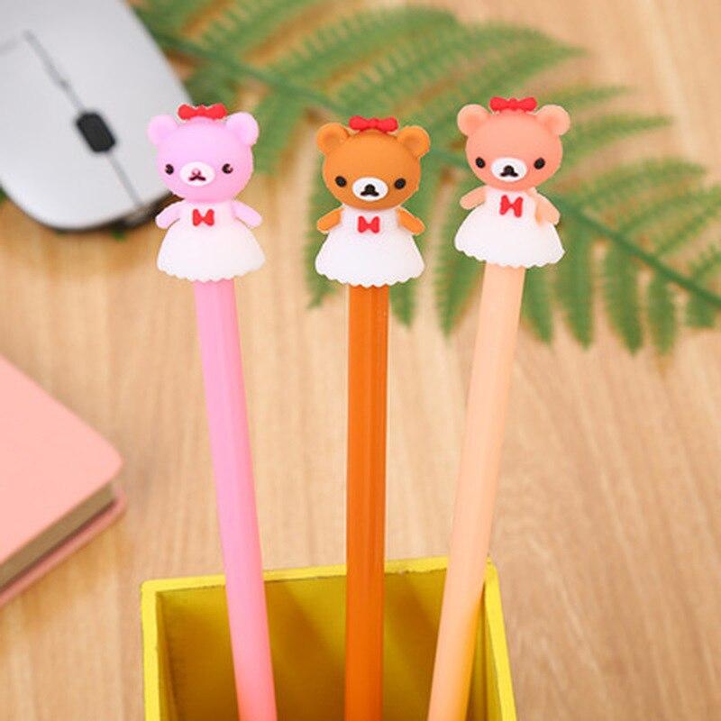 1pcs  Cub Neutral Pen0.5mm Cute Pens Novelty Student  Gel Pens Cute Stationery Black Cartoon Kawaii Pen  Kawaii School Supplies