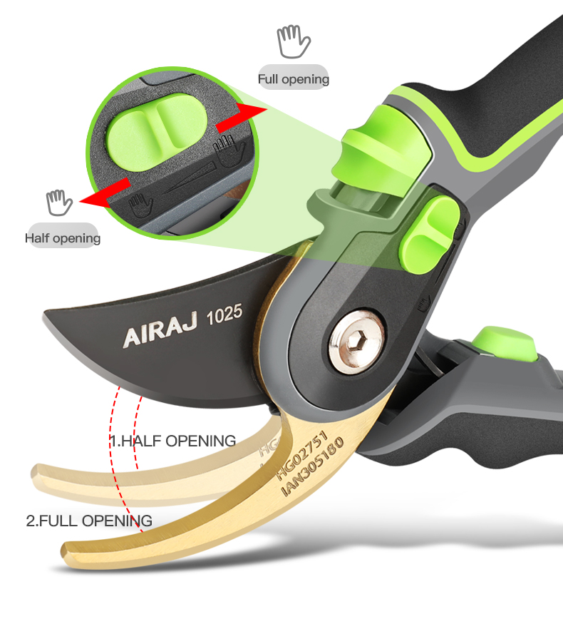 AIRAJ Gardening Scissor for Pruning and Shearing of Branches of Fruit Trees and Plants 8