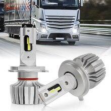 BraveWAY [New Technology] LED 12V/24V Car/Truck Lights H1 H4 LED Headlight Bulb H7 LED Canbus Car Lamp 55W 6000K 20000LM Fanless