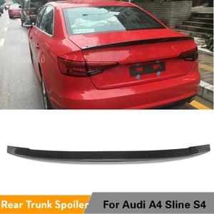 Carbon Fiber Kofferbak Boot Lip Vleugel voor Audi A4 B9 Base Standars en Sline S4 Sedan 2017 2018(China)