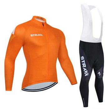 2019 strava outono manga longa camisa de ciclismo conjunto bib calças ropa ciclismo roupas de bicicleta mtb camisa uniforme roupas masculinas 8