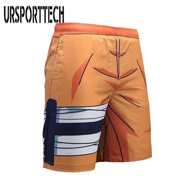 URSPORTTECH Beach Shorts Men Bottoms Quick Dry Print Swimming Surfing Shorts Summer Draw String Elastic Waist Short Men Swimwear 3