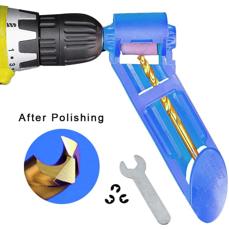 1 zestaw ściernica korundowa przyrząd do ostrzenia wierteł wiertło tytanowe przenośna wiertarka bitowa zasilane części do narzędzi