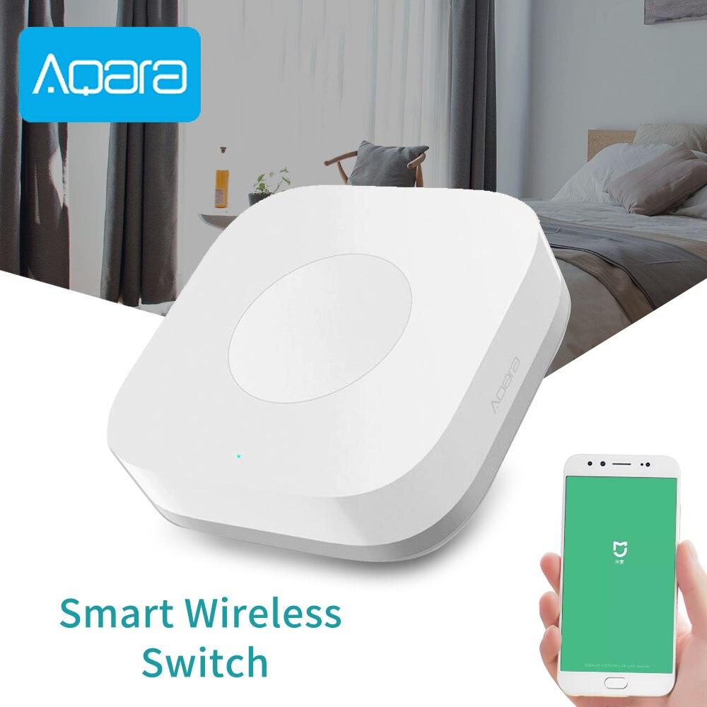 Original Aqara Smart Wireless Switch For Mi Home App Remote Control Security Alarm ZigBee Wifi Connection 1 Gang Key Switches