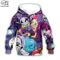 I bambini del Panno Undertale Sans Gioco 3d con cappuccio/maglietta/maglietta del ragazzo della maglietta felpata Del Fumetto Film Hot pant stile-2