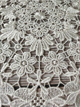 White Lace Round Embroidery table place mat