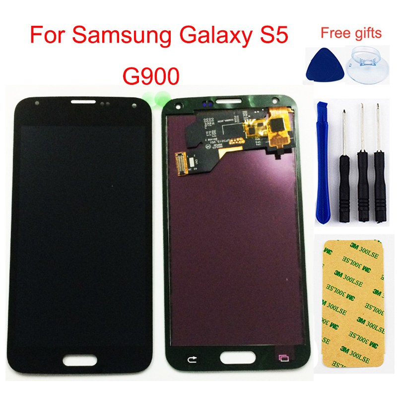 LCD For Samsung Galaxy S5 LCD Screen <font><b>G900</b></font> G900A G900MD G900V SM-G900F I9600 LCD <font><b>Display</b></font> Touch Screen Digitizer Assembly image
