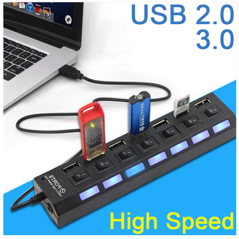 USB 3.0 HUB 2.0 HUB Multi USB Splitter 3/4/7 Port Expander Multiple USB 3 Hab USB3.0 Hub For PC Computer Accessories