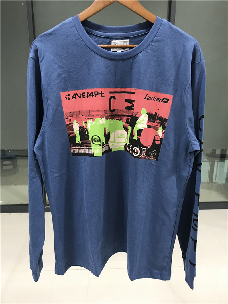 CAVEMPT C.E 18AW MD big RAVE Tee Letter print t-shirt black white S-XL