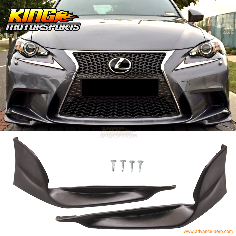 Fit <font><b>F</b></font>ür 2014 2015 2016 Lexus IS250 IS350 <font><b>F</b></font> Sport TR-D Stil Front Lip Splitter 2PC - PU image