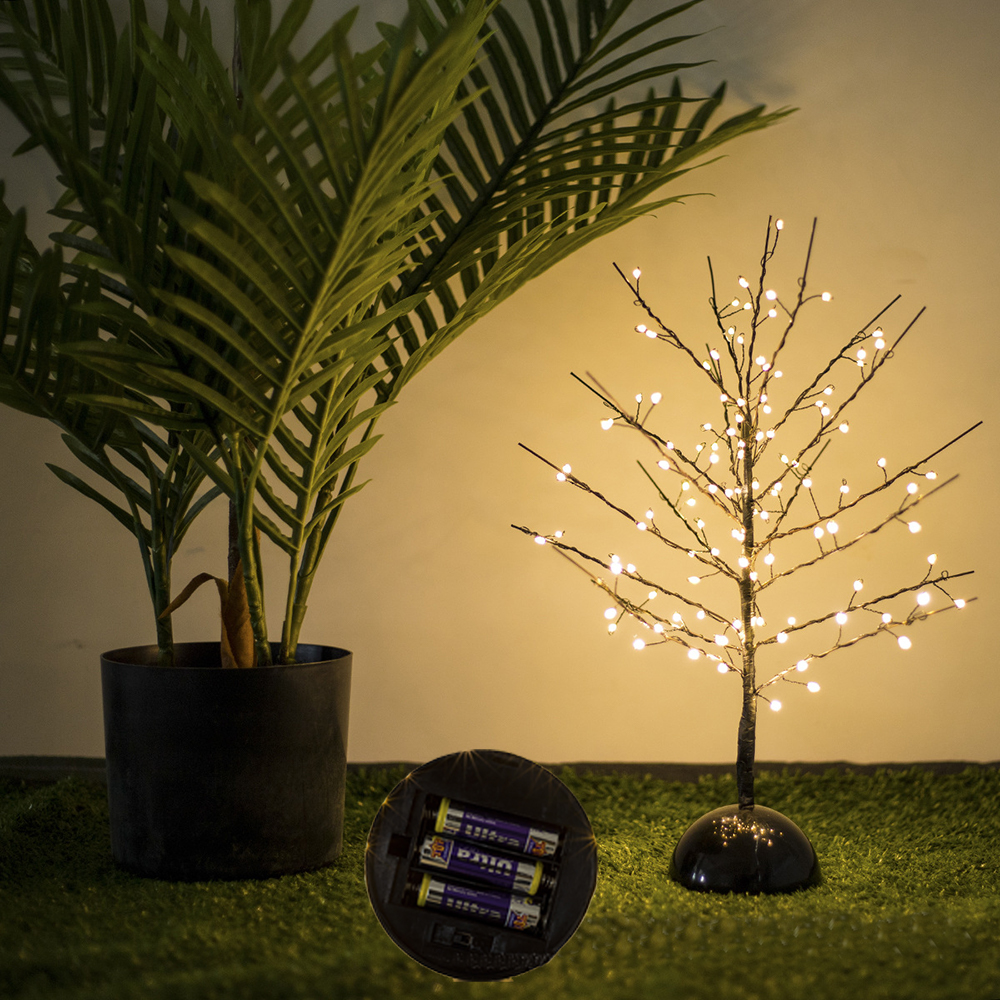 Table Tree Lamp Led Copper Wire Battery String Lights Fairy String Light Holiday Christmas Valentines Day Wedding Decoration