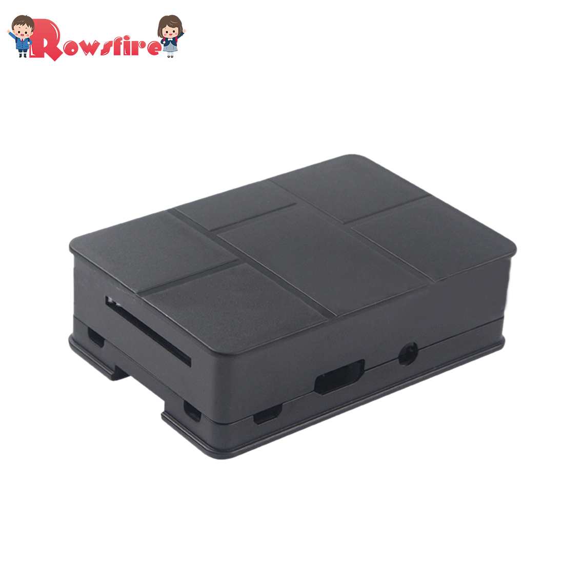 Protective Cover Plastic Shell For Raspberry Pi 3B+/3B/2B - Black