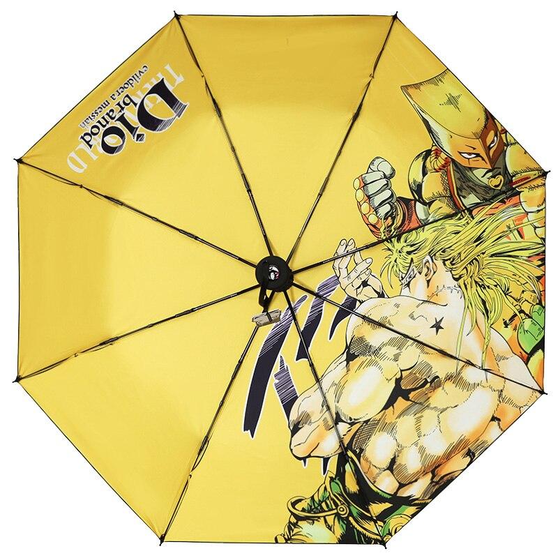 Details about  /JOJO/'s Bizarre Adventure Folding Umbrella Sun Rain Anti-UV Travel Cosplay Prop