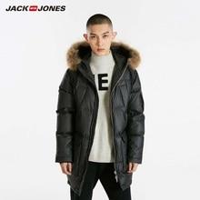 JackJones Winter Men's Hooded Fur Collar Long Down Jacket Wa