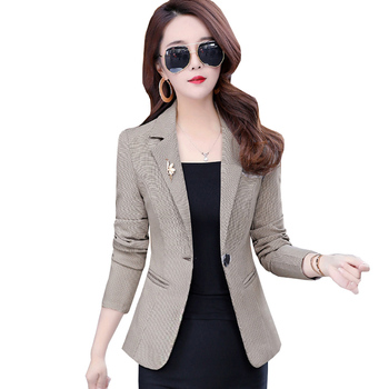 Women Spring And Autumn Blazer Elegant Professional Office Suit Womens Casual Large size Jacket New Fashion Female Tops ok208