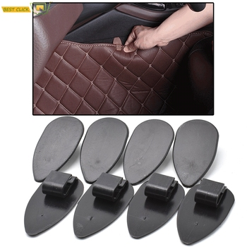 8pcs Universal Car Floor Mats Anti-Slip Clips Black Auto Carpet Fixing Grips Clamps Holders Car Accessories Durable Flexible image