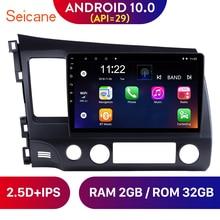 Seicane 10.1 polegada android 10.0 estéreo do carro gps rádio multimídia player para honda civic 8 2005 2006 2007 2008 2009 2010 2011