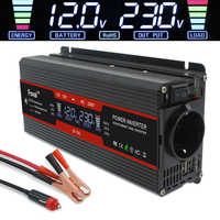 LCD bildschirm 6000W power Inverter Spannung Konverter Transformator DC 12V zu AC 220V Solar 2 USB auto transformator Konvertieren EU buchse