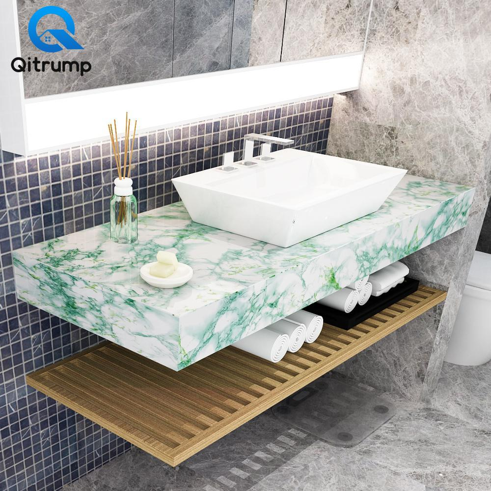 Waterproof Oil-proof Marble Wallpaper Contact Paper Wall Stickers PVC Self Adhesive Bathroom Kitchen Countertop Home Improvement 4