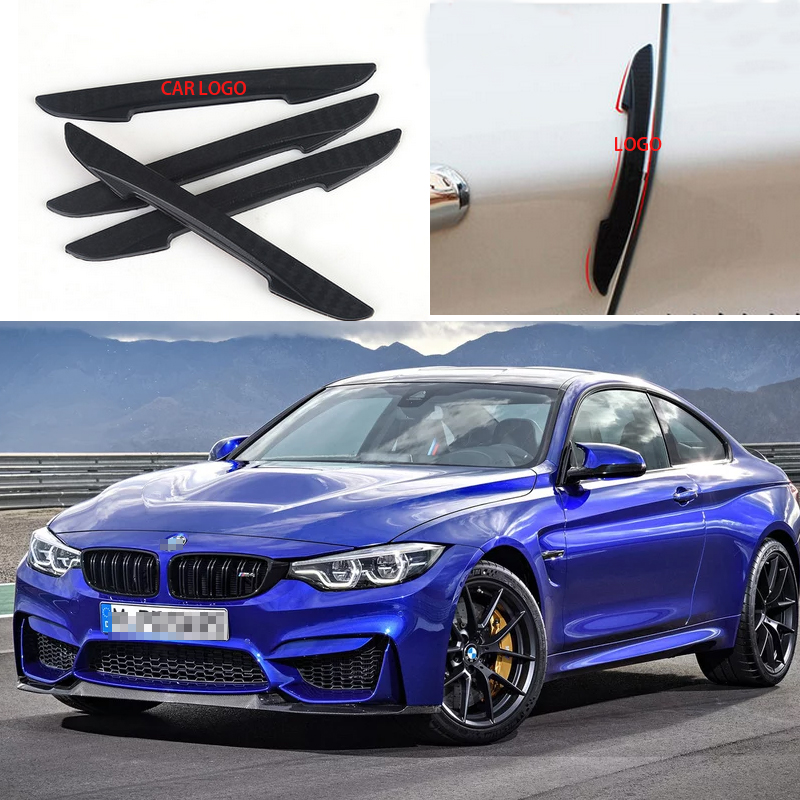 4Pcs Car Side Door Edge Protection Guard Trim Sticker Protector Fit For BMW