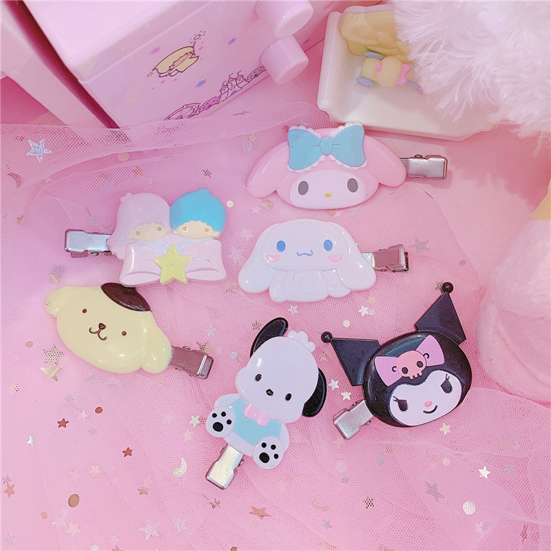1Pc Lovely Melody Twins Stars Hair Clips Japan Cartoon Hairpin Kids Hairclip For Girls
