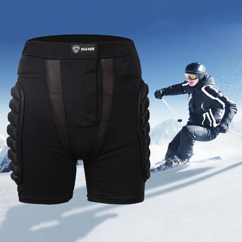 Unisex Sports Gear Short Protective Hip Butt Pad Ski Skate Skateboard Snowboard Protection Drop Resistance Roller Padded Shorts