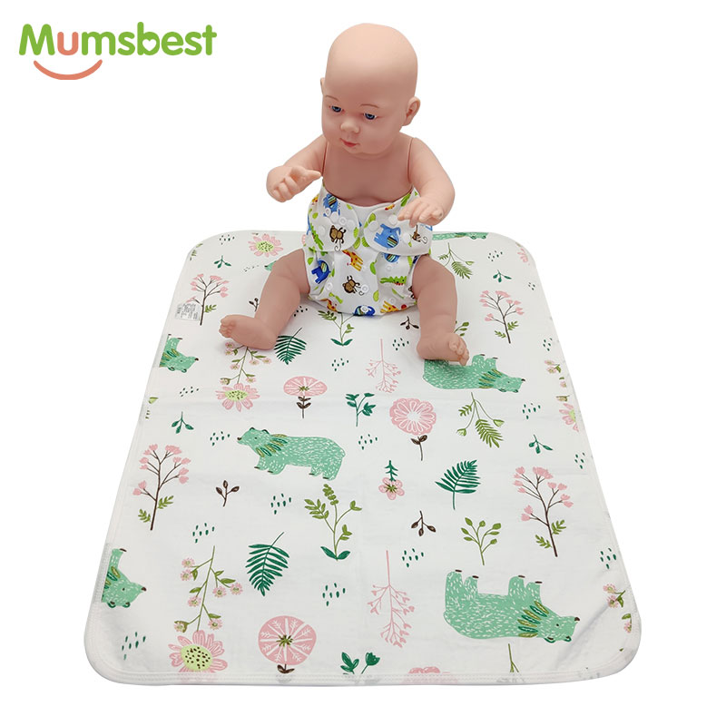 [Mumsbest] Baby Diaper Cover Changing Pads Washable Waterproof Newborn Travel Portable Baby Changing Mat Cover Size: 70cmx50cm