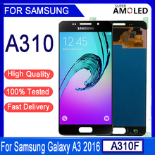 """4.7""""Original AMOLED LCD For SAMSUNG A310 For SAMSUNG Galaxy A3 2016 A310 A310F A3100 LCD Display Touch Screen Digitizer Assembly"""