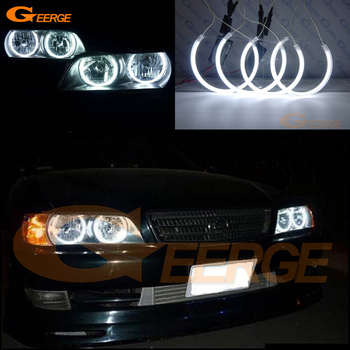 цена на Excellent CCFL Angel Eyes kit halo rings Ultra bright illumination For Toyota Chaser JZX100 1996 1997 1998 1999 2000 2001
