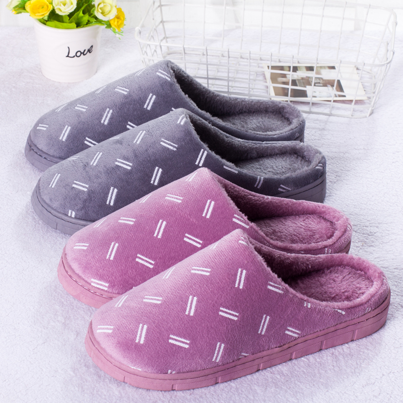 KushyShoo Women Slippers Bedroom Slippers Indoor Simple Winter Warm Cotton Couple Slippers Home Slippers House Shoes Men