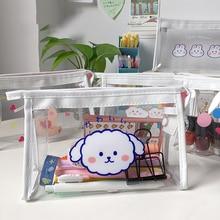 Cosmetic-Bag Pencil-Bag-Organizer Makeup-Storage-Bag Make-Up Zipper Transparent Waterproof