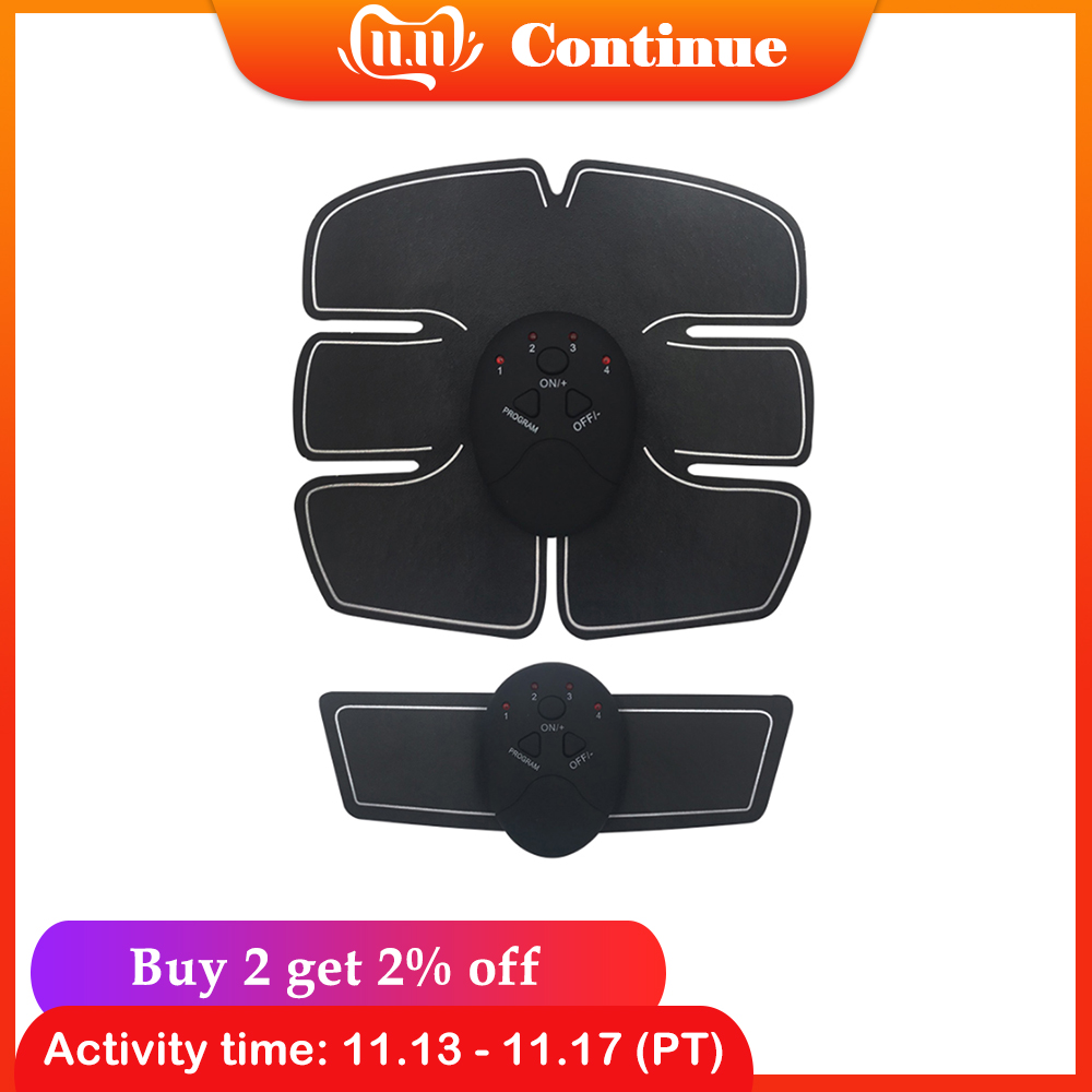 Electric Muscle Training Machine Fitness Gym Equipment Abdominal Arm Muscle Trainer Body Slimming Fat Burning Muscle Stimulator