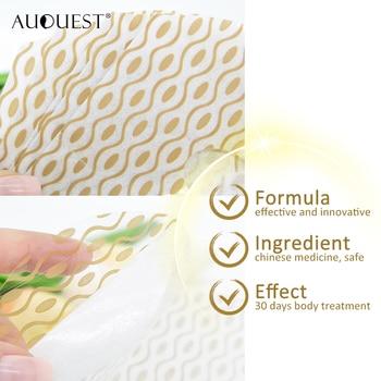 11.11 AuQuest Slimming Patch Estômago Celulite Queimador de gordura Cintura Barriga Perda de peso Pasta Umbigo Adesivo Produto dietético 1