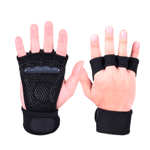Bodybuilding Weightlifting Gym Gloves Hand Anti-slip Dumbbell Kettle bell Fitness Gloves Sport Crossfit Training Workout Gloves cheap XINLUYING Weight Lifting Glove black S(women)M(7- 8cm)L(8-9cm) 75 chloroprene rubber 12 polyester fiber 8 silicagel