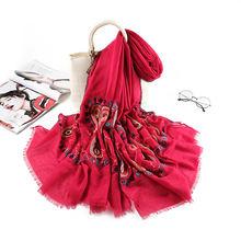 Осенние новые шелковые шарфы из хлопка и льна женская модная
