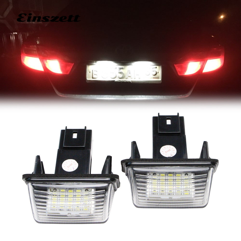 BOOMBOOST 2pcs NO ERROR Atuo LED Number License Plate Light Rear Lamp for for P//eugeot 206 207 306 307 for C//itroen C3 C4 C5 Car Styling