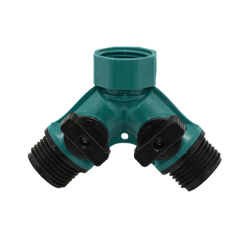 ANSI 3/4 inch 2 manier tap water Splitter tuin tap Irrigatie klep Tuinslang Quick connector adapter 1pcs