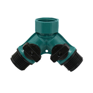 ANSI 3/4 inch 2 way tap water Splitter garden tap Irrigation valve Hose Pipe Quick connector adapter 1pcs(China)