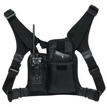 ABBREE ハーネス胸フロントパックポーチホルスター用キャリーバッグ Baofeng UV 5R UV 82 UV 9R プラス BF 888S TYT モトローラトランシーバー