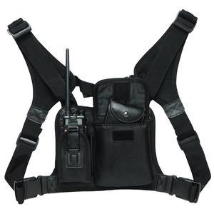Image 1 - ABBREE สายรัดด้านหน้ากระเป๋าพกพากระเป๋าสำหรับ Baofeng UV 5R UV 82 UV 9R Plus BF 888S TYT Motorola Walkie Talkie