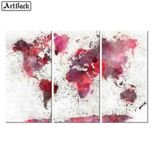 Three fight watercolor map Diamond painting cross stitch full square drill 5d diamond mosaic landscape crafts living room decor