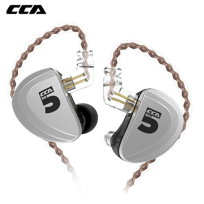 New CCA A10 In Ear Earphones 5 Balanced Armature Driver HIFI Bass Monitor Earphone Earbuds With 2pin <font><b>Cable</b></font> for <font><b>KZ</b></font> <font><b>ZS10</b></font> PR image