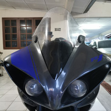 Black and Transparent Motorcycle Windshield Windscreen Wind screen For Yamaha YZFR1 YZF R1 YZF R1 2009   2014 2010 2011 2012