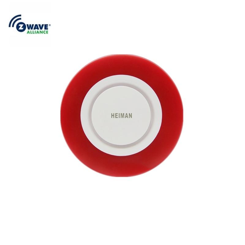 H61e19d5953fb45e8b36aa46a8f60bdf5F - Heiman Nice Design Zwave Strobe flash Siren 95DB big sounds Alarm With EU or US Plug for option