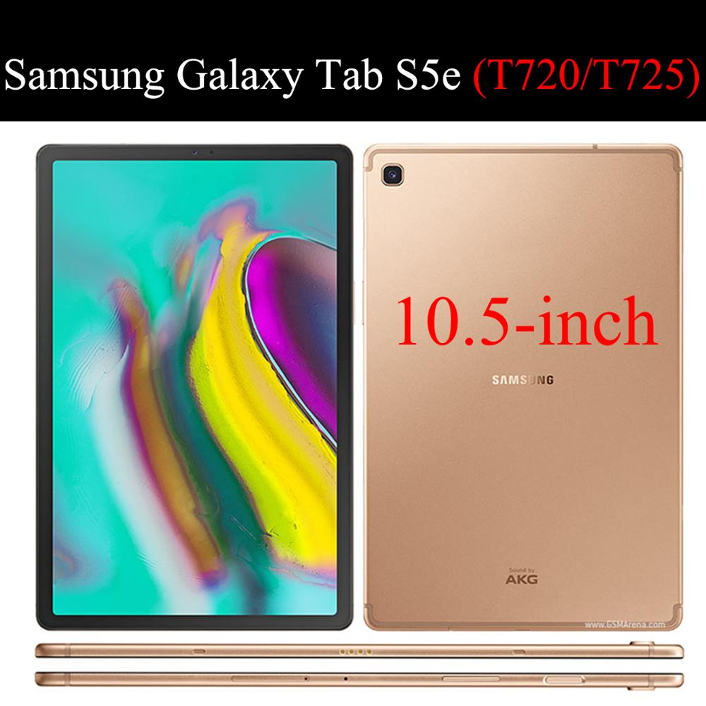 """Tablet case for Samsung Galaxy Tab S5e 10.5"""" Auto Smart Sleep wake funda Trifold Stand Solid cover capa skin for SM-T720/T725-5"""