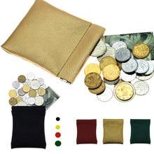 Petit portefeuille court en cuir PU pour femmes et hommes, porte-monnaie de couleur unie pour enfants, nouvelle collection